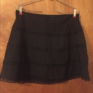 Black The Limited A-Line Skirt